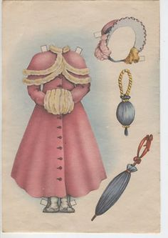 """Susan of """"A Box of 10 Cut-Out Dolls w/ Dresses"""" by Helen Page, Lowe (also reprinted as Costume PDs & Romance PDs), under pub name John Martin's House, Paper Dolls Book, Vintage Paper Dolls, Paper Toys, Vintage Toys, Paper Art, Paper Crafts, Paper Dolls Printable, Tiny Prints, Dress Up Dolls"""