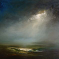 """Viridian dream"" by landscape artist David Taylor (Archive album) - oil on canvas"