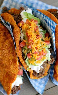 Homemade Doritos Locos Taco Bell Recipe . . .