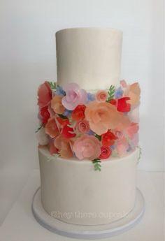 89 best wafer paper flowers cakes tutorials images on pinterest wafer paper flowers wafer paper cake pretty cakes beautiful mightylinksfo