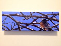 """""""Hide and Seek"""" acrylic 4""""x12"""" by Carla Mcgillivray - sold"""