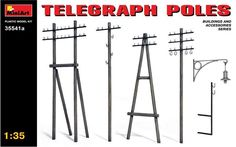 Diorama Telegraph Poles Plastic Model Kit 1/35 by MiniArt 35541A #MiniArt