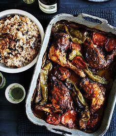 Turkish-style roast chicken & rice pilav recipe | Gourmet Traveller WINE recipe :: Gourmet Traveller