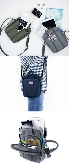 fb197a80d09 It features lots of functional pockets inside to store all your daily  essentials. The bag can even be carried conveniently with the attached  shoulder strap!