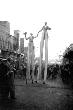 Street stilt walkers from the Circus...