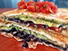 Kale With Love: Quesadilla Lasagna #vegan #recipe