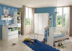 Babyzimmer komplett Bibi 7117. Buy now at https://www.moebel-wohnbar.de/kinderzimmer-bibi-babyzimmer-komplett-7-teilig-weiss-blau-7117.html