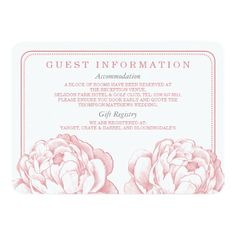 The Pretty Peony Floral Wedding Collection 4.5x6.25 Paper Invitation Card