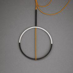 Geometric silver necklace. False Warnings от RitaRodnerJewellery
