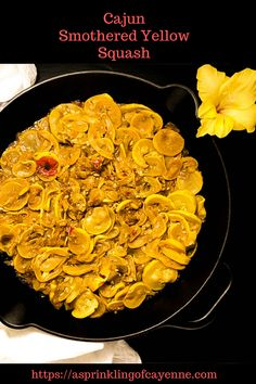 Cajun Smothered Yellow Squash Tender young summer squash cooked down with the browned Cajun trinity garlic and spices Keto grain free low carb Paleo and gluten free side. Gluten Free Recipes Side Dishes, Best Gluten Free Recipes, Paleo Recipes, Low Carb Recipes, Yummy Recipes, Skillet Recipes, Yellow Squash Recipes, Food Dishes, Veggie Dishes