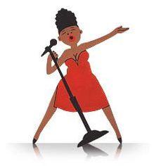 Singer - Tin Art Fridge Magnet by GoodiezOnline on Etsy