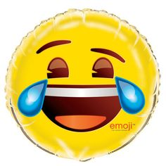 "18"" Foil Crying Laughing Emoji Balloon"