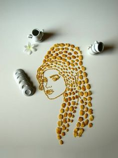 Artist Sarah Rosada's cornflake portraits prove playing with your food is a valuable pastime