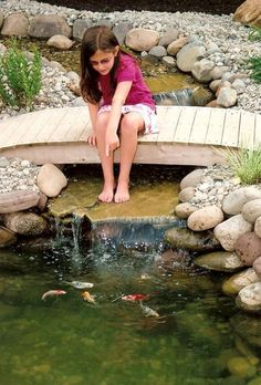 Beautiful Backyard Fish Pond Landscaping Ideas 43 image is part of 50 Beautiful Backyard Fish Pond Garden Landscaping Ideas gallery, you can read and see another amazing image 50 Beautiful Backyard Fish Pond Garden Landscaping Ideas on website Design Fonte, Pond Bridge, Garden Bridge, Fish Pond Gardens, Water Gardens, Fish Garden, Outdoor Ponds, Outdoor Fountains, Diy Pond