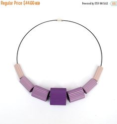 25% OFF: Shades of violet and lilac  Necklace by PaperStatement