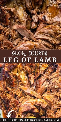 Slow Cooker Leg Of Lamb Recipe, Slow Cooker Lamb Roast, Crockpot Lamb, Lamb Roast Recipe, Roast Recipes, Slow Cooker Recipes, Slow Cooked Lamb Leg, Cookbook Recipes, Cooking Recipes