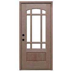 Steves & Sons, Craftsman 9 Lite Arch Unfinished Mahogany Wood Entry Door, M3159-6-UF-MJ-4RH at The Home Depot - Mobile