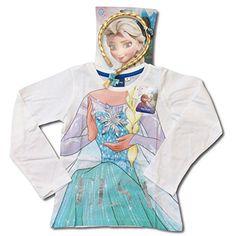 Frozen-Camiseta de manga larga para niña blanco 2 años #regalo #arte #geek #camiseta