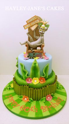 King Julien - Madagascar Cake - Cake by Hayley-Jane's Cakes