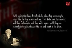 """I read her suggestion. The one that said """"write about faith in action"""" and I wondered if she realizes how much she lives out her faith in action. My mind skipped over names like William Booth and M..."""