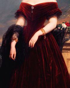 """loumargi: """"Isabelle Antoinette Barones Sloet van Toutenburg, by Nicaise De Keyser-detail"""" - - Ball Dresses, Ball Gowns, Pretty Dresses, Beautiful Dresses, Glamorous Dresses, Elegant Dresses, Vintage Dresses, Fairytale Dress, Princess Aesthetic"""