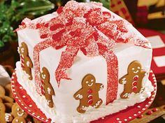 Gift Box Cake | This is a fun cake for the whole family—perfect not only for the holidays, but for year-round celebrations. It's an impressively moist three-layered white cake with a fine crumb texture.