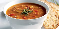 Lentil & Tomato Soup with Spices
