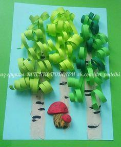 Best birch tree art for kids Ideas Book Crafts, Paper Crafts, Diy For Kids, Crafts For Kids, Origami, Birch Tree Art, Spring Art Projects, Kindergarten Art, Camping Crafts