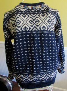 Vintage Dale of Norway Nordic Ski Sweater Pure Wool Cardigan 42 M Pewter Clasps | eBay