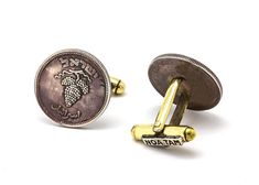 Fathers Day Gift  Coin Cufflinks with 25 pruta  by NoaTam on Etsy