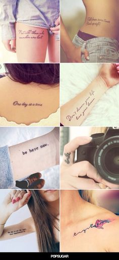 Quote tattoos. So pretty!