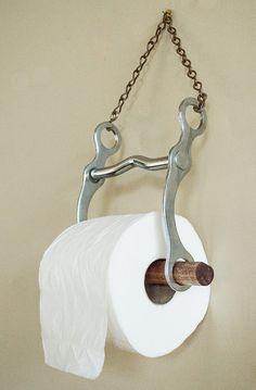 Papier de toilette porte rustique salle de bain Decor issus de