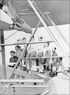 Charlie Lunn and cadets aboard a navigational in-flight trainer. Charlie is one of the few actual people whose name appears in Friends & Enemies.