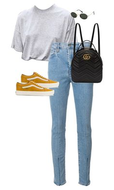 """Untitled #13620"" by alexsrogers ❤ liked on Polyvore featuring Levi's Made & Crafted, Vans, Gucci and Ray-Ban"