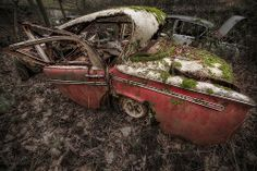 Abandoned Red Hillman. #Urbex #HDRphotography