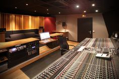 The Main Control Room at Contrepoint Studios in The Sologne, France