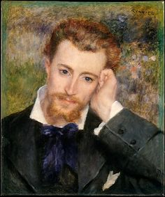 Auguste Renoir (French, 1841–1919). Eugène Murer (Hyacinthe-Eugène Meunier, 1841–1906), 1877. The Metropolitan Museum of Art, New York. The Walter H. and Leonore Annenberg Collection, Bequest of Walter H. Annenberg, 2002 (2003.20.9) | Murer was an artist, celebrated pastry cook, restaurateur, novelist, poet, and avid collector of Impressionist paintings. #mustache #movember