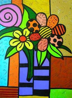 britto romero + tulipanes - Buscar con Google Madhubani Art, Graffiti Painting, Funky Art, Arte Pop, People Art, Art Journal Pages, Fabric Painting, Art Lessons, Flower Art