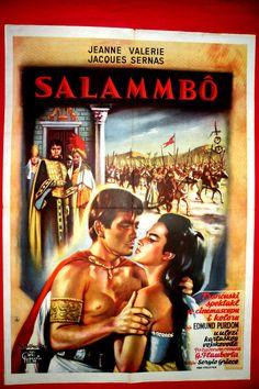 SALAMMBO 1960 EDMUND PURDOM SERGIO GRIECO JEANE VALERIE RARE EXYU MOVIE POSTER