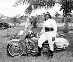 "Legendary Bessie Stringfield Motorcycle Queen  /  Bessie Stringfield (1911–1993), nicknamed ""The Motorcycle Queen of Miami"" was the first black woman to ride across the United States solo and during WW2 she served as one of the few motorcycle despatch riders for the United States military. http://www.antiquearchaeology.com/blog/legendary-bessie-stringfield-motorcycle-queen/"