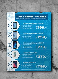 Grafische vormgeving en drukwerk winter poster Optie1 ☃️❄️📱#smartphone #design #poster www.omega-design.nl