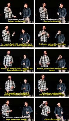 Sweaty Jared [gifset] Jensen and Jared at #SeaCon15