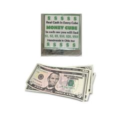 Check this out on our store The Money Cube Soap Real Cash Check it out here! Christian Book Store, Cool Cube, Best Gifts, Unique Gifts, Funny Pigs, Pink Cadillac, Thing 1, Candy Crafts