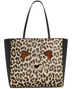 Run Macy's Wild York Bolsos Kate accesorios y New medianos Hallie Leopard Spade RBwPR