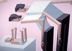 It's Nice That | Impossible perspectives and block-like figures in Mernet Larsen's paintings