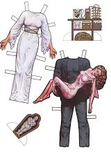 VINTAGE ZOMBIE AND MONSTERS PAPER DOLLS