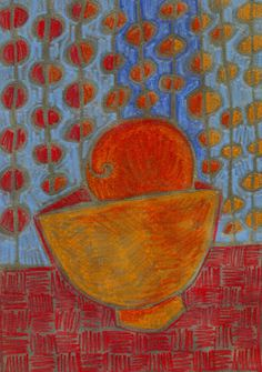"January 6, ""Breakfast"", color pencil, by Dottie D'Acquisto Graham"