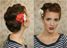 The Freckled Fox - a Hairstyle Blog: Modern Pin-up Week: #6 - Retro Roll Updo