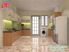 Thiết kế tủ bếp MFC vân gỗ mang vẻ đẹp cuốn hút PTM86