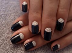 simple half-moon nail design. #nails #Nailart